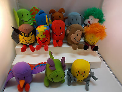 Sonic Tater Tots Plush Lot Animals Super Heroes Sea Creatures Scooby Doo