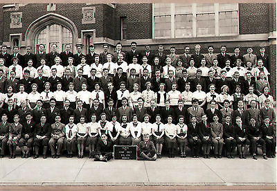 Vintage Class Photo HUGE Brooklyn New York 1937 PS 170 Public Elementary School