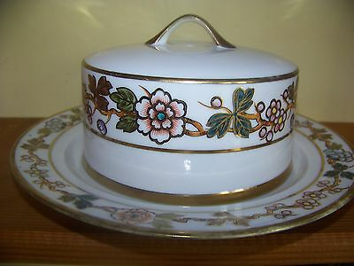 Stunning antique hand painted Nippon cheese butter dish