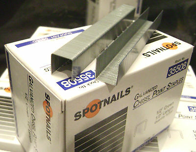 "5000 STAPLES --- 1/2"" Crown 1/2"" Length  --- Spotnails 35508 / Duo Fast 5016C"