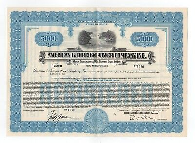 American & Foreign Power Company, Inc. Bond