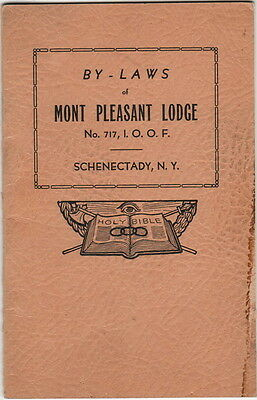 Constitution & Bylaws Mont Pleasant {NY} Lodge No 717, I.O.O.F. 1929