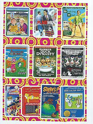 2014 Topps WACKY PACKAGES  Series 1 TERRIBLE TV Insert Set  (10 Cards)