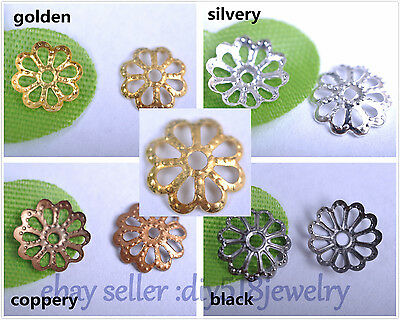 1000s 6mm / 8 mm bead caps flower style for DIY jewelry necklace bracelet 3001