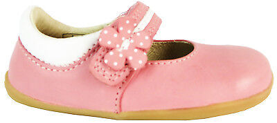 Bobux 623801 Step Up Pretty Paris Baby Girls Pink Velcro Leather First Shoes New