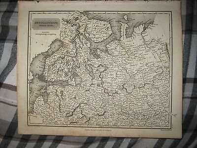 Rare Antique 1817 North Russia In Europe Finland Lapland Arrowsmith Dated Map Nr