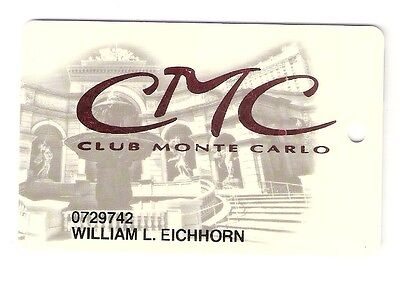 Old LAS VEGAS Casino MONTE CARLO Players Club / SLOT CARD