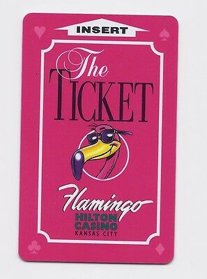 FLAMINGO Hilton Casino SLOT CARD / Players Club Card - The Ticket