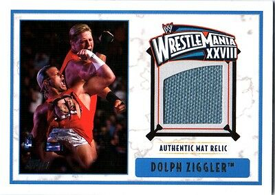 WWE Dolph Ziggler 2012 Topps WrestleMania 28 Authentic Used Mat Relic Card DWC