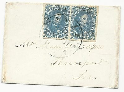 CSA Scott #4 Pair Tied to Ladies Mourning Cover by Columbia, TX CDS Aug 3 (1863)