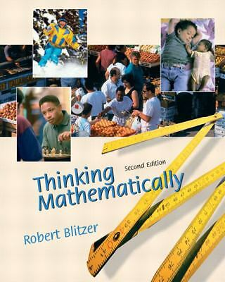 Thinking Mathematically by Robert Blitzer (2003, Book, Illustrated)
