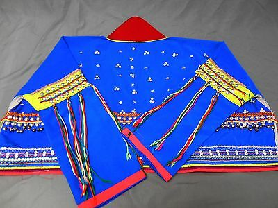 Ethnic Jacket Metal Beads Sequins Bright Colors Size Small