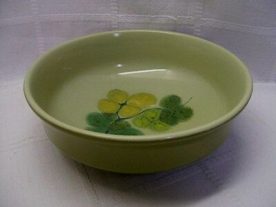 "Franciscan PEBBLE BEACH 7-3/4"" x 2-3/4"" Green Vegetable Serving Bowl Earthenware"