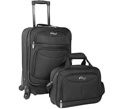 "New 2 pc luggage set 360 degree rotate Spinner wheels carry-on 20"" uPRIGHT Tote"