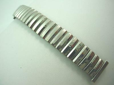 "Vintage Contiflex Mens Watch Band 16mm 5/8"" Short Stainless Overhand Expansion"