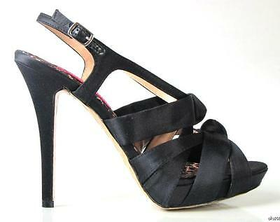 new BETSEY JOHNSON 'Wisdom' black strappy PLATFORMS heels shoes - sexy