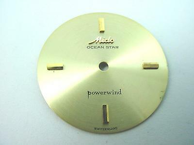 Ocean Star Powerwind Mido Watch Dial Gold Vintage 27.22mm Gold Stick Markers