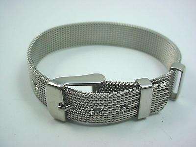 Stainless Steel Mesh Wrist Band Vintage Ladies 11.7mm Wide New Old Stock
