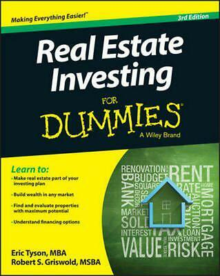 Real Estate Investing for Dummies by Eric Tyson (English) Paperback Book Free Sh