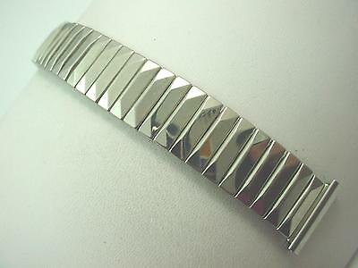 "Mark 7 Mens Vintage Watch Band Stainless Steel 19mm 3/4"" Overhand Expansion NOS"