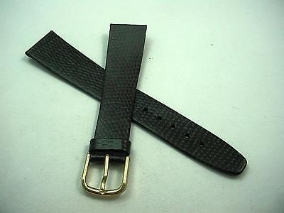 Pulsar Mens 18mm Vintage Watch Band Genuine Calf Brown Gold Tone Buckle NOS