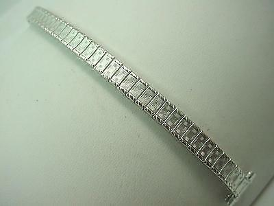 "watch Band Ladies Vintage Full Expansion Speidel 13mm 1/2"" Rolled White Gold NOS"