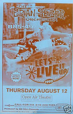 1970/'s Rockabilly Brian Setzer /& The Stray Cats Promo Tour Poster 1979