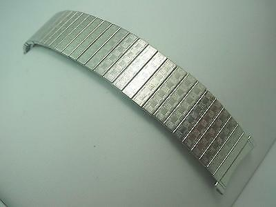 "Mens Bulova Vintage Stainless Watch Band 22mm 7/8"" 100% Expansion New Old Stock"