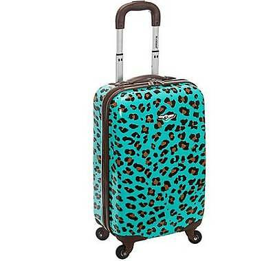 "New 20"" Hard shell Rolling 360 Spinning wheel Luggage Carry On - Blue Leopard"