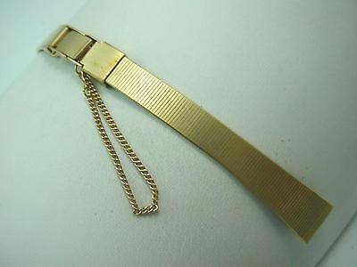 Gilden Ladies Vintage Watch Band Gold Tone Butterfly Clasp 10mm New Old Stock