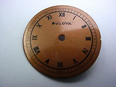 Bulova Black Roman Numeral Vintage Watch Dial Copper 23.03mm New Old Stock