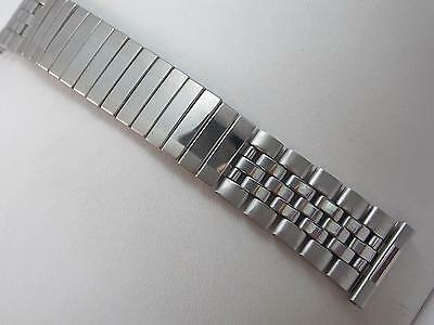 "19mm 3/4"" Stainless Steel Vintage Mens Watch Band Center Scissor Expansion NOS"