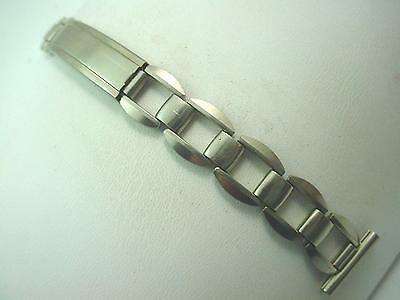 "Mens Ladies Vintage 16mm 5/8"" Topps Watch Band Stainless Steel Deployment Clasp"
