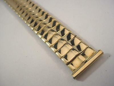 "Foster Gold Filled Mens Straight Lug 3/4"" / 19mm Full Expansion Watch Band NEW"