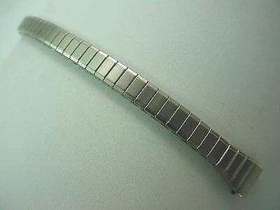 "Speidel Ladies Vintage Watch Band Straight Expansion 10mm 3/8"" Stainless Steel"