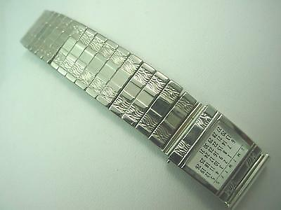 "Stainless Mark 7 Mens 17.5mm 11/16"" Vintage Watch Band Calendar Expansion NOS"