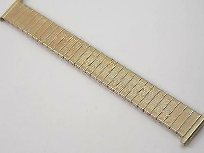 "Speidel Rolled Gold Mens Ladies 17.5mm 11/16"" Vintage Watch Band Strght Expnsion"