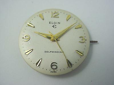 Elgin Selfwinding 26.43mm Vintage Watch Dial Hands Gold Markers Pearl New Old St