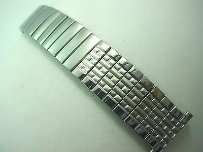 """Center Expansion Mens Vintage Watch Band Foster 19mm 3/4"""" Stainless Steel NOS"""