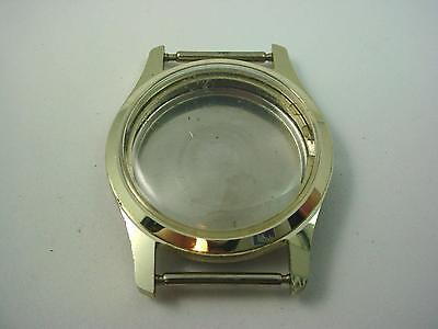 Aluminum Vintage Mens Watch Case Id 25.53mm Crystal Case Back New Old Stock