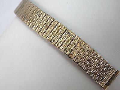 Gold Filled 17mm Kreisler Mens Vintage Scissor Expansion Watch Band New Old Stck