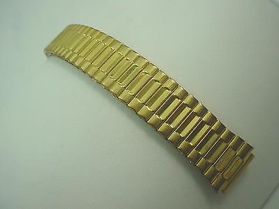 """Gold Tone Watch Band Mens Vintage 100% Expansion 16mm 5/8"""" New Old Stock"""