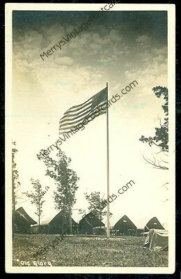 Old Glory Pre-20 (Real Photo) (post card) (Military D) #57