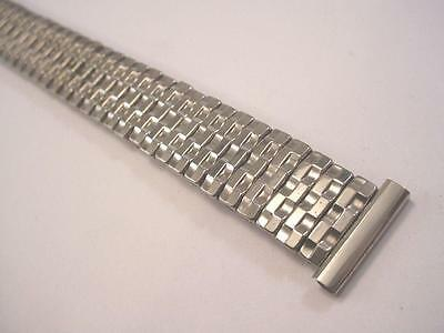 "MARK VII Mens Vintage Basket Weave Watch Band Stainless Steel 19mm 3/4""  New NOS"