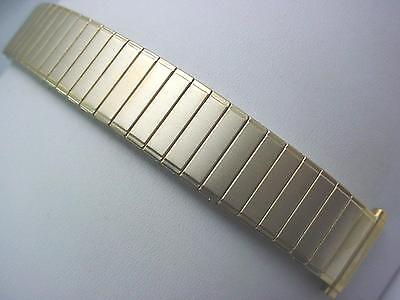 """Gold Tone Mens Vintage Straight Expansion Speidel Watch Band 16mm-19mm 5/8""""-3/4"""" • £22.55"""
