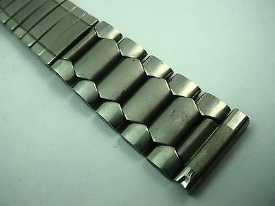 "Mens Stainless Steel Vintage Watch Band Center Expansion 17.5mm 11/16"" NOS"