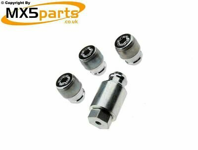 MX5 Locking Wheel Nuts Set Genuine Mazda McGuard Fits All MX-5 Models 1989>