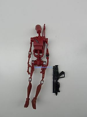 Star Wars Saga Attack of the Clones Battle Droid Arena Maroon #2 Action figure