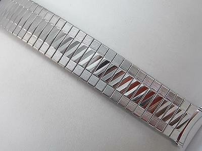 "Kreisler Mens 19mm 3/4"" Vintage Watch Band Stainless Stl Straight Expansion NOS"