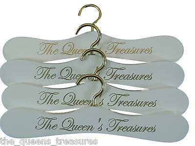 The Queen's Treasures WHITE DOLL CLOTHES HANGERS For American Girl Doll Clothes